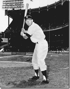 MANTLE, MICKEY  / 1956  /  NEW YORK YANKEES  /  OKLAHOMA BASEBALL: UNKNOWN: Caption reads, Mickey Mantle, who is headed for the Mayo Clinic Monday for the third time in his 15-year career, came close to quitting baseball last week but was talked out of it by Ralph Houk. Photographer UNKNOWN. Original Photo UNKNOWN. Published on O-1-16-66.
